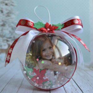 Коледни топки със снимка